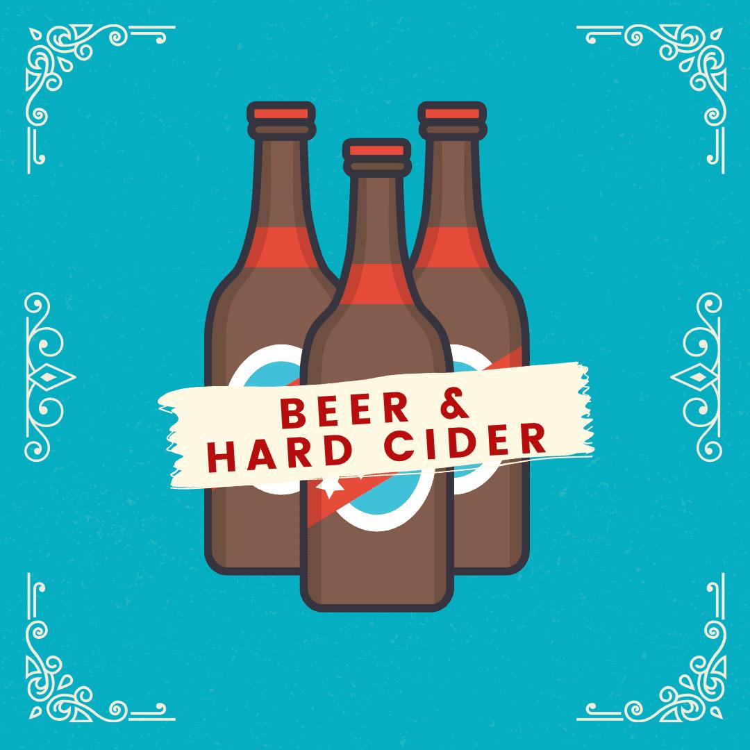 Beer, Hard Cider, Canned Cocktails