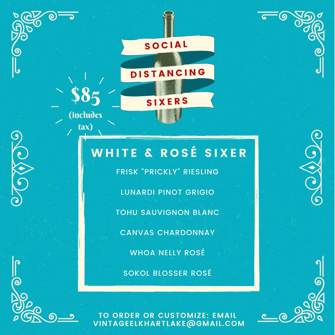 Social Distancing Sixer - White & Rosé