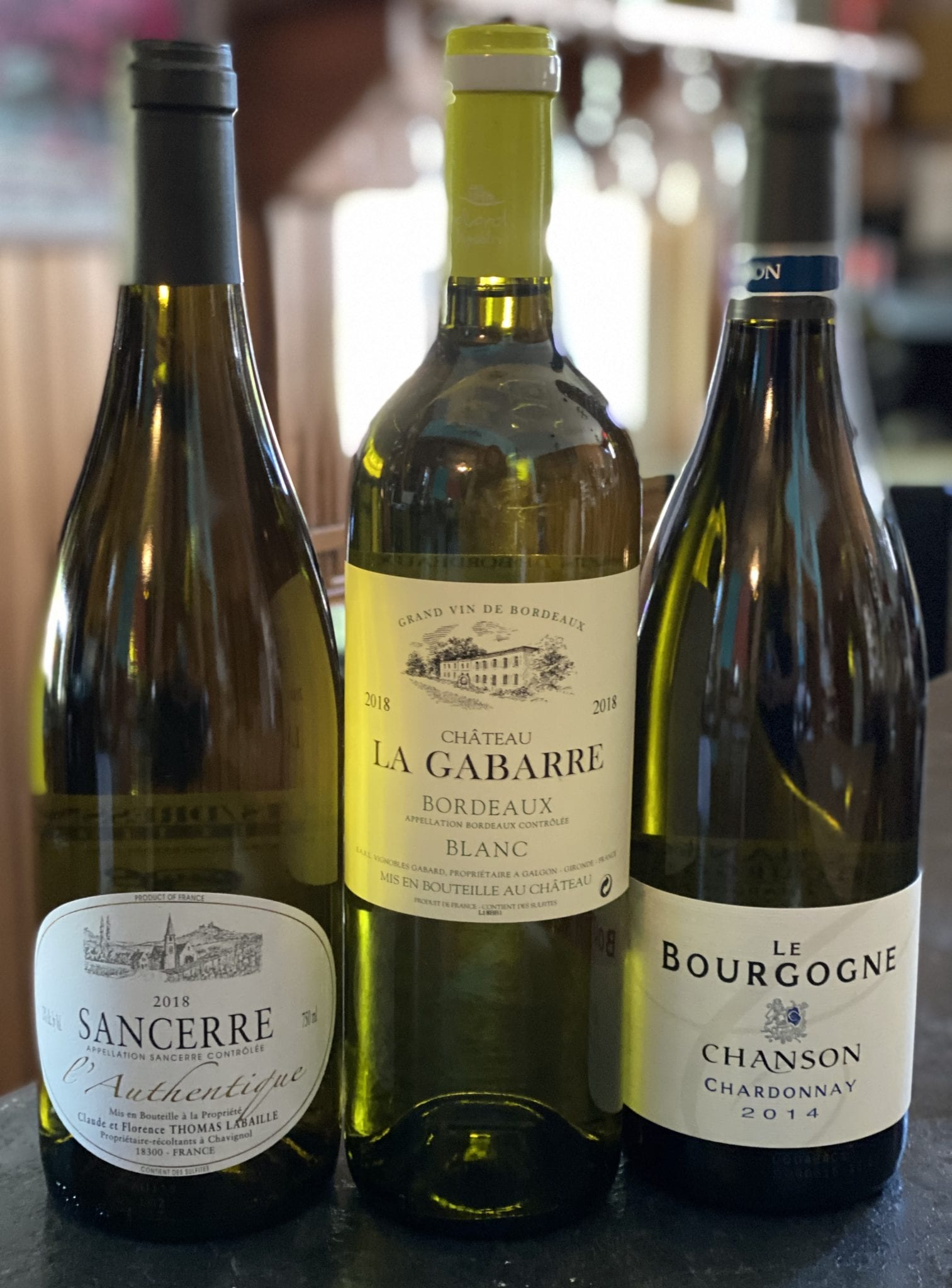 French White Wine Tasting Trio