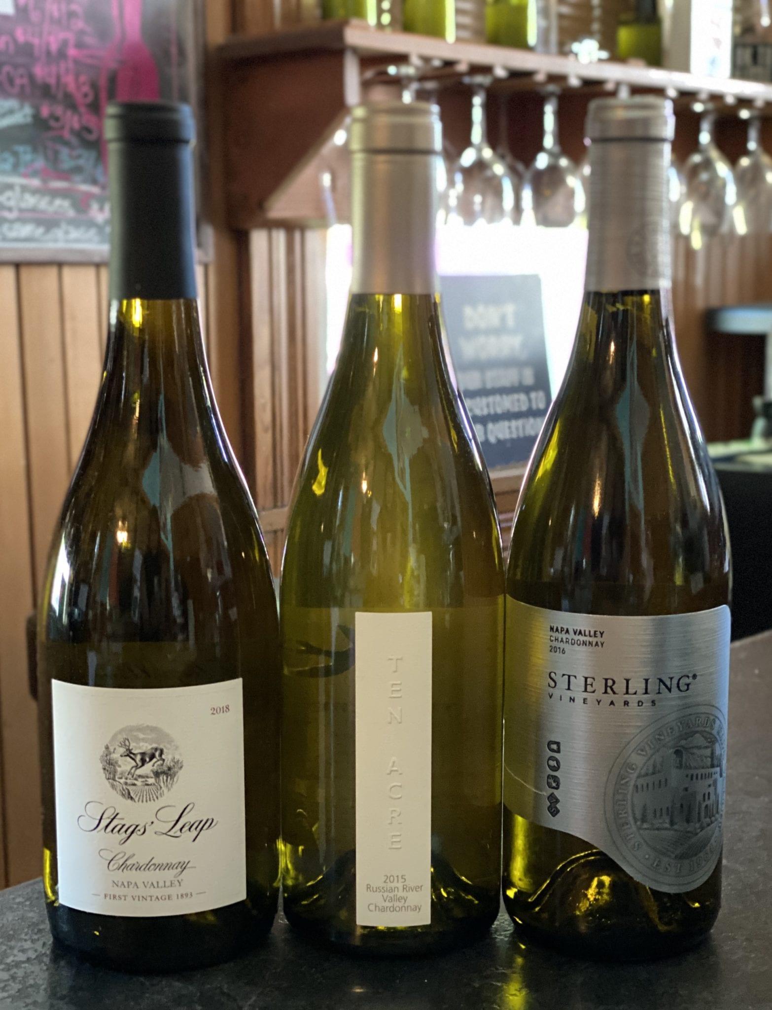 Classic Napa & Sonoma Chardonnay Tasting Trio