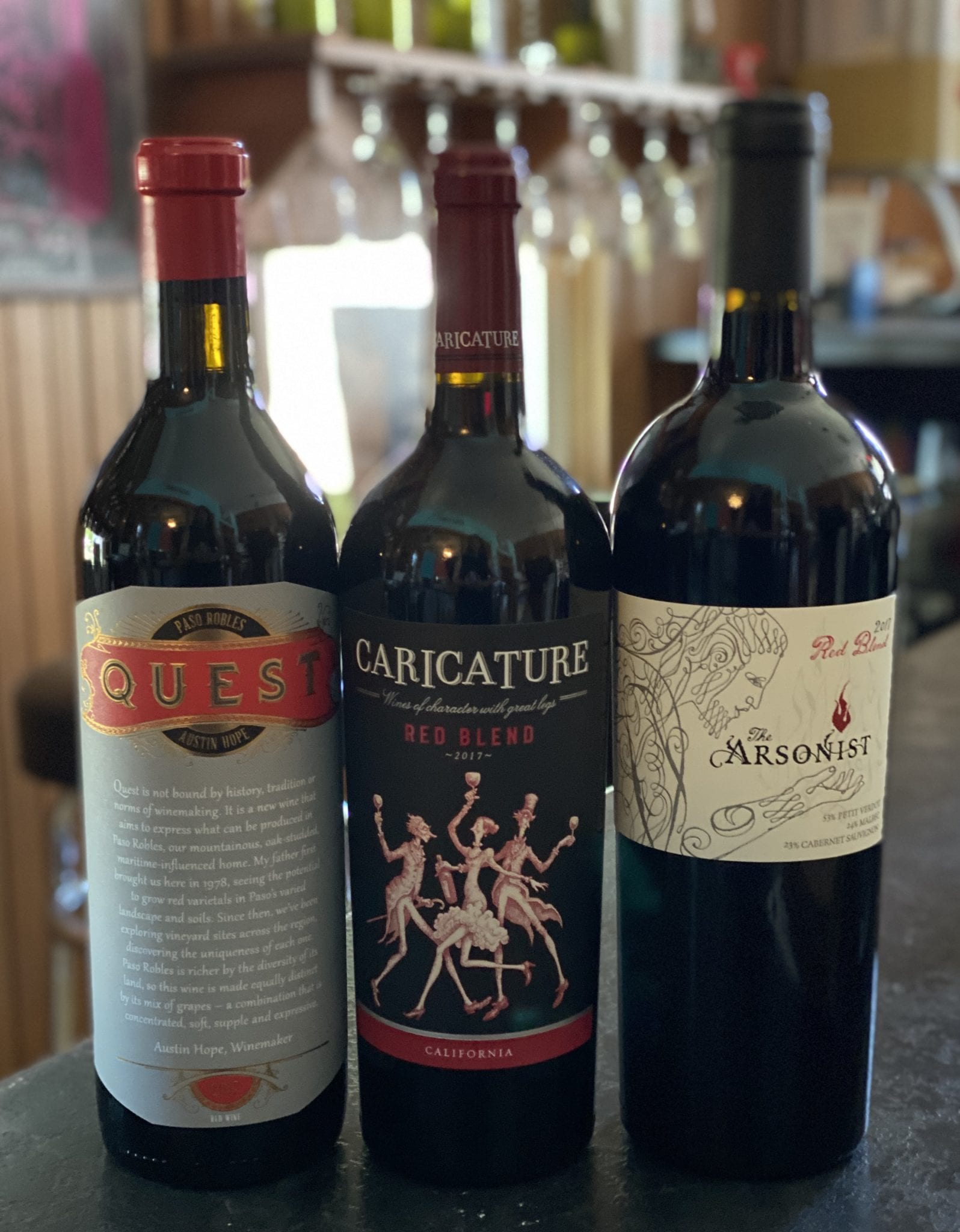 California Red Blend Tasting Trio