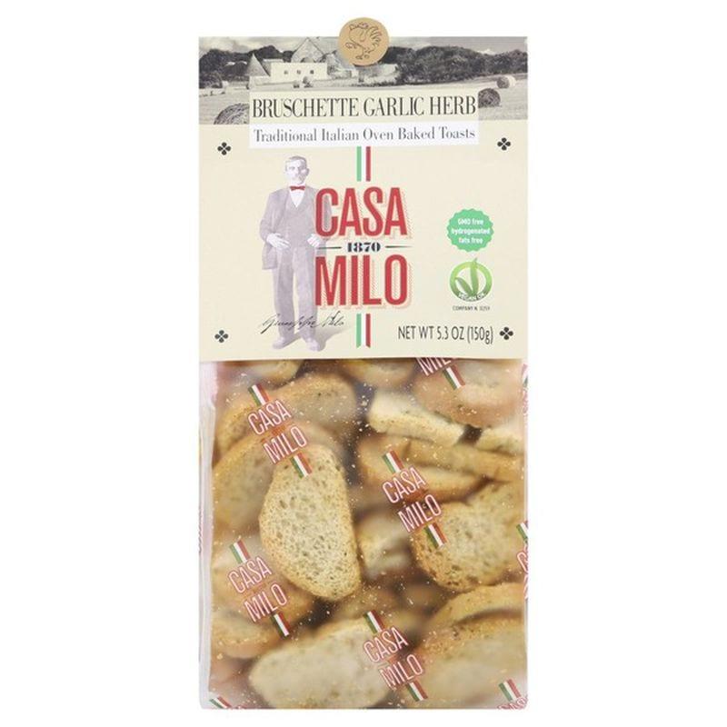 Casa Milo Bruschette - Italian Baked Toasts