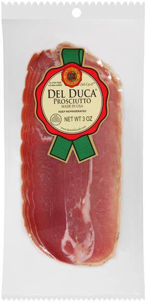 Del Duca Prosciutto - 3oz Sliced