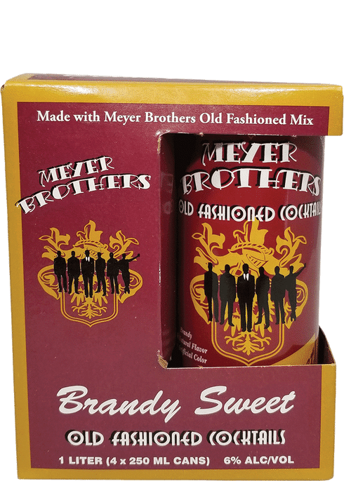 Meyer Bros Brandy Sweet Old Fashioned 4-pack