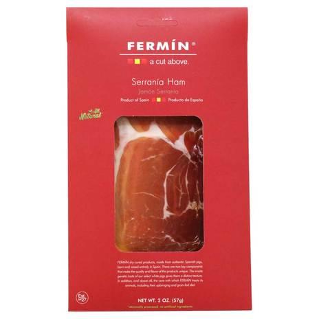 Fermin Spanish Serrano Ham - 2oz Sliced